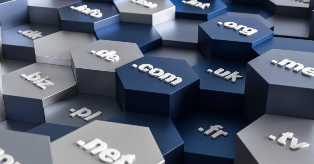 3D-Illustrationshexagon-Domains